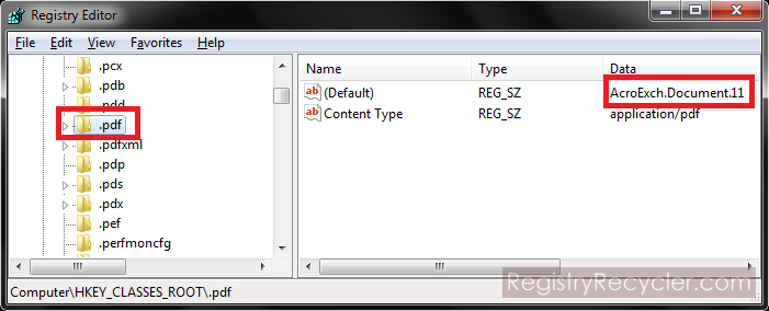 Manually Delete File Extension Association Entries in Registry