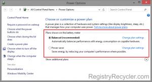 Optimal Power Settings in Windows 8.1