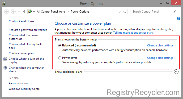 Optimal Power Settings in Windows 8.1