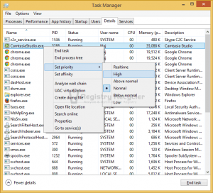 Optimize Application Priorties Windows 8 (8.1)