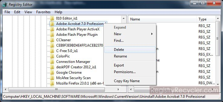 How to Remove Registry Entries of Uninstalled Applications