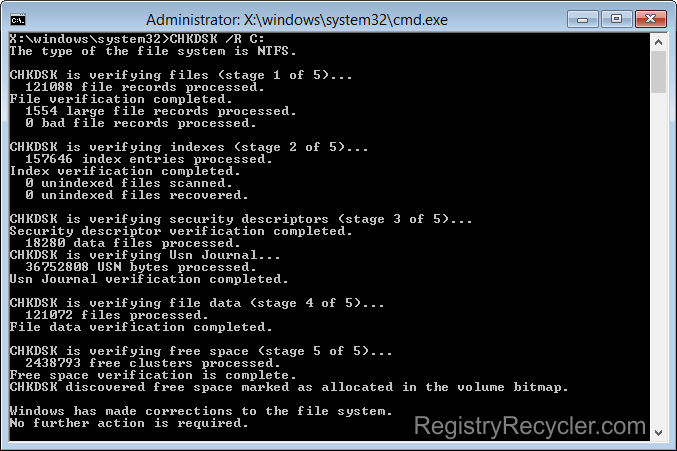 Fix-NTFS-File-System-Blue-Screen-Error