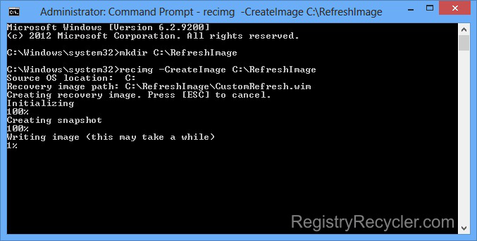 Windows 8 Recovery Drive From Command Prompt