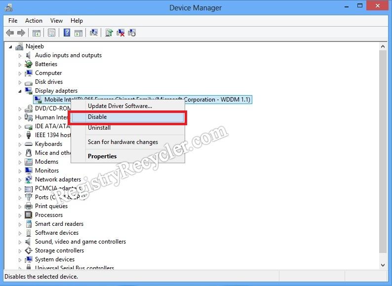 Graphic Driver Update Causing Black Screen | Registry