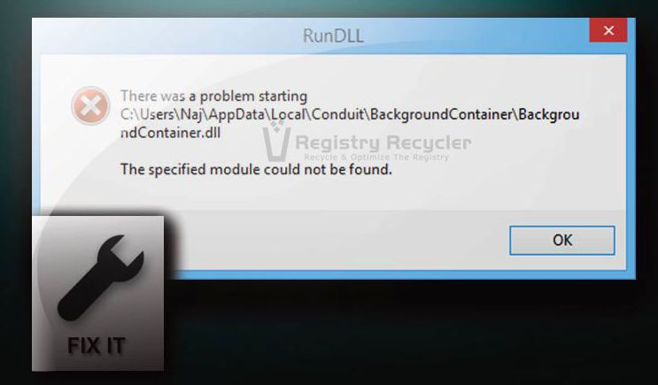 Fixing Run DLL Errors Background Container Windows 8.1