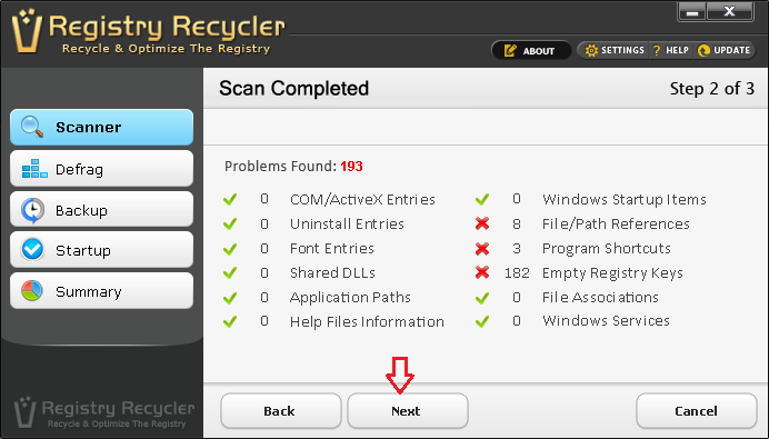 Finding and Fixing Registry Errors with Registry Recycler