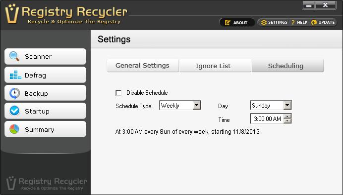 Scan Registry Every Week