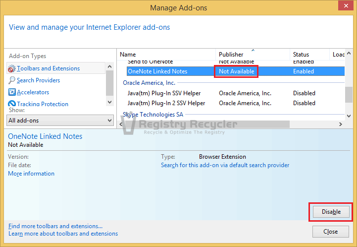 How do i Disable Add-ons on Internet Explorer 11