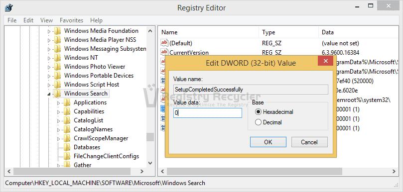 ReBuild Windows Search Feature