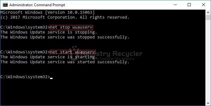 Start Stop Windows Update service